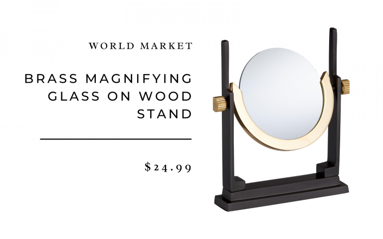 brass magnifying glass stand