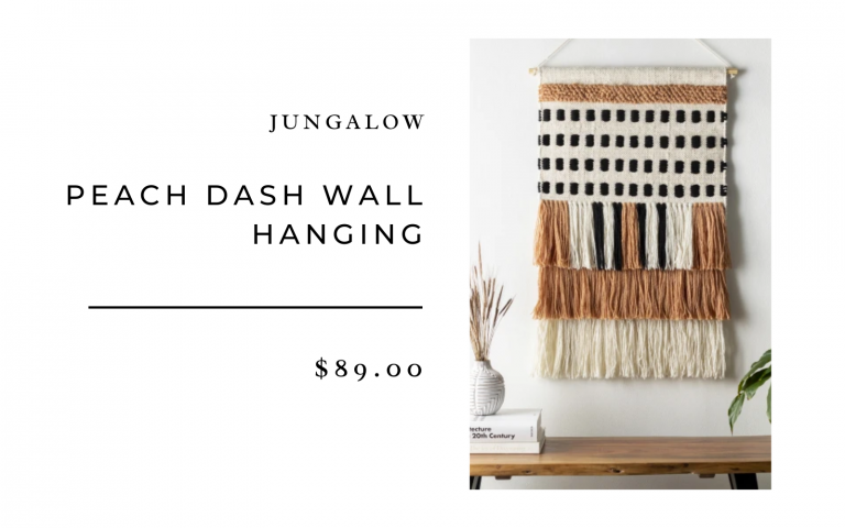 peach wall hanging jungalow
